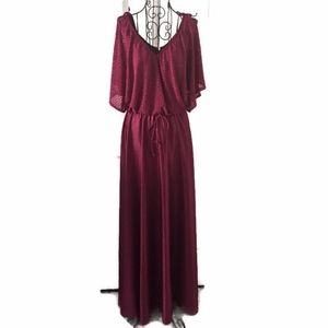 Vintage 1960s Draped Maxi Dress Gown